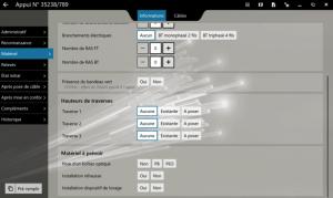 Vue relevé d'appuis de la mise à jour de notre logiciel FiberScript